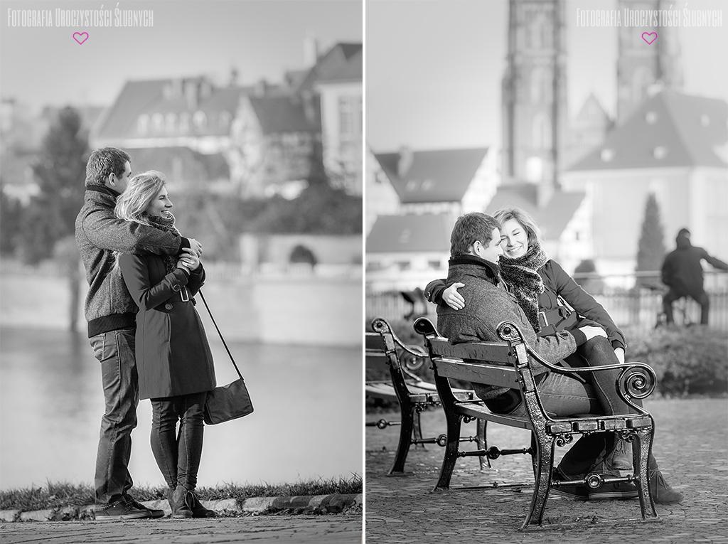 Fotografia ślubna Wrocław - sesja narzeczeńska Marty i Adama