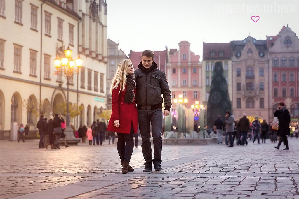 Fotografia ślubna - sesja narzeczeńska Marty i Adama we Wrocławiu