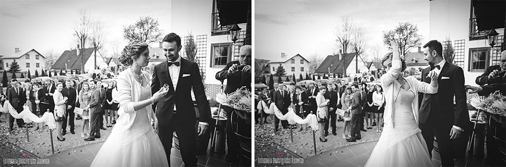 Fotografia Uroczystości Ślubnych - fotografia ślubna Jelenia Góra. Reportaż ślubny Magdy i Wiktora - Sobieszów, Jelenia Góra, Dwór Korona Karkonoszy.