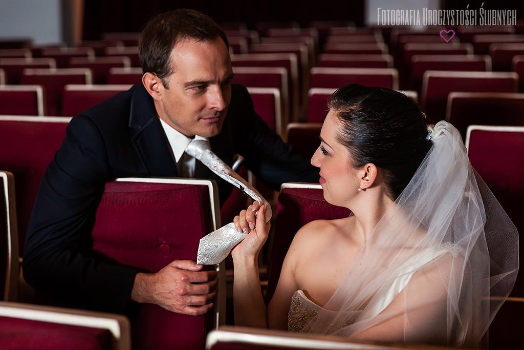 Sesja ślubna w teatrze im. C.K. Norwida w Jeleniej Górze.