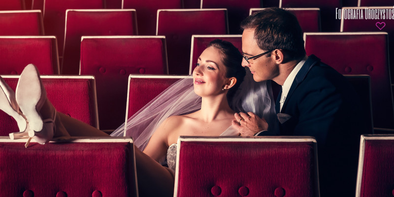 Sesja ślubna w Teatrze Norwida - Patrycja & Thomas
