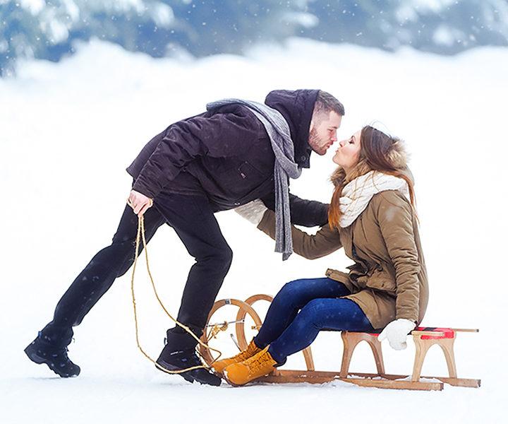 Paulina i Jarek - zimowa sesja narzeczeńska