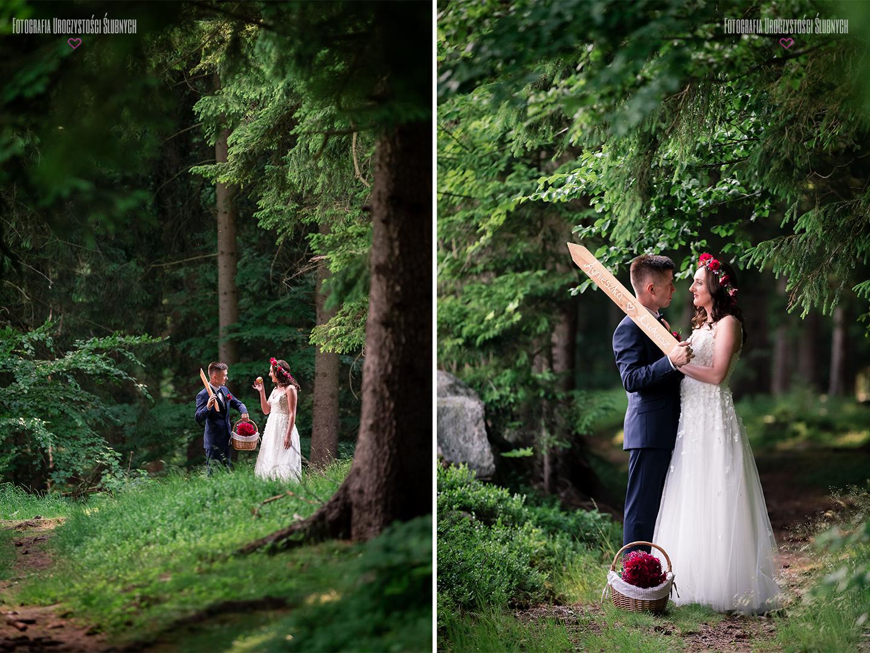 Sesja zdjęciowa w leśnym plenerze w Karkonoskich lasach. Piękny plener ślubny - Zapraszam - Zdjęcia ślubne Klaudia Cieplińska
