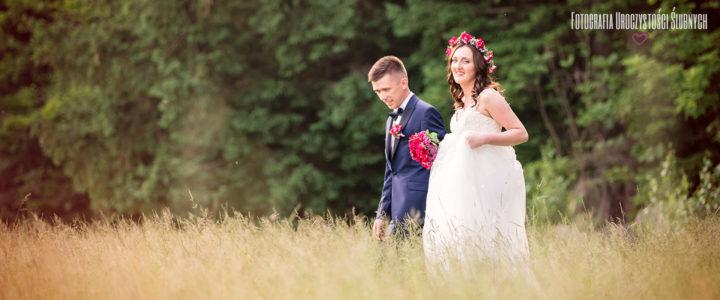 Agnieszka i Łukasz - plener ślubny w lesie