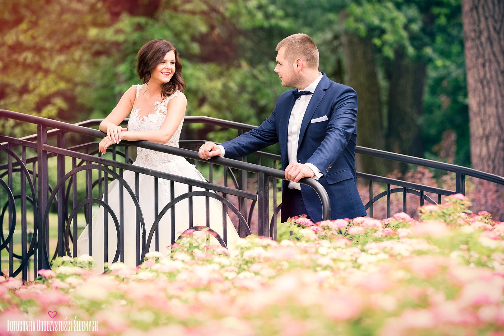 Plener ślubny w Parku Norweskim w Cieplicach Śląskich - Zdrój. Profesjonalne zdjęcia ślubne, artystyczne plenery, reportaże ślubne.