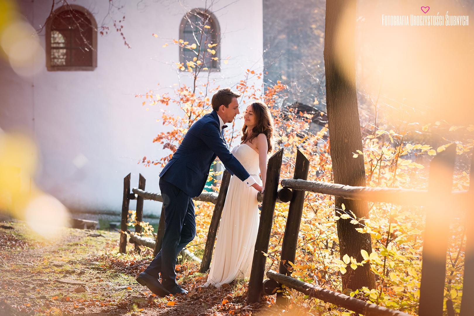 Zdjęcia ślubne Jelenia Góra. Piękna sesja ślubna w Parku Norweskim w Jeleniej Górze. Klaudia Cieplińska - Fotografia