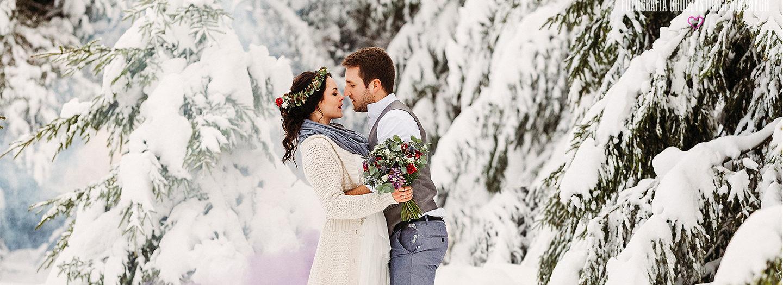 Zimowa sesja plenerowa w Karkonoszach