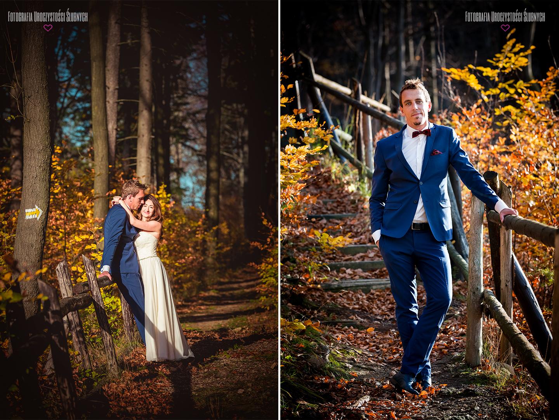 Wspaniały, jesienny plener ślubny w Karkonoszach. Fotografia ślubna Jelenia Góra, Klaudia Cieplińska. Zapraszam