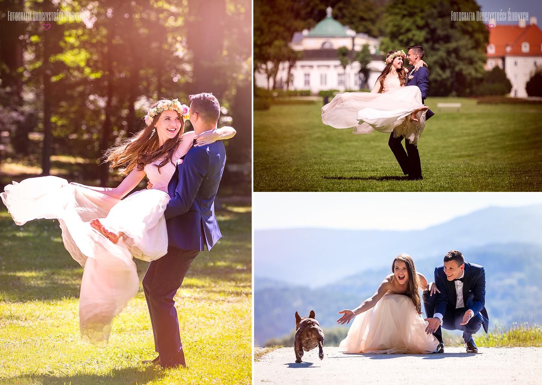 Plener ślubny w Karkonoszach - zdjęcia w Jeleniej Górze, w Cieplicach Śląskich-Zdrój w kotlinie jeleniogórskiej na Dolnym Śląsku.