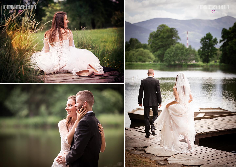 Plener ślubny w Karkonoszach - sesja zdjęciowa w Parku w Bukowcu, na szlaku Pałaców i Ogrodów Kotliny Jeleniogórskiej