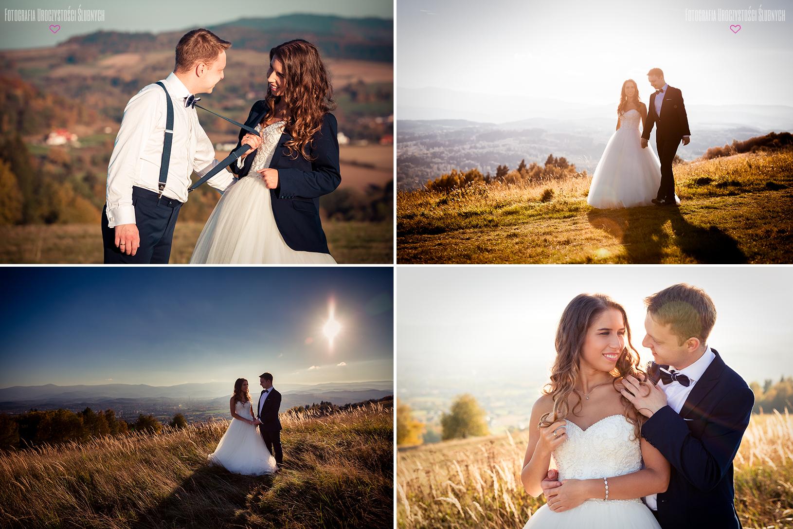 Zdjęcia ślubne na Górze Szybowcowej - plener ślubny w Karkonoszach, sesje narzeczeńskie, reportaże ślubne