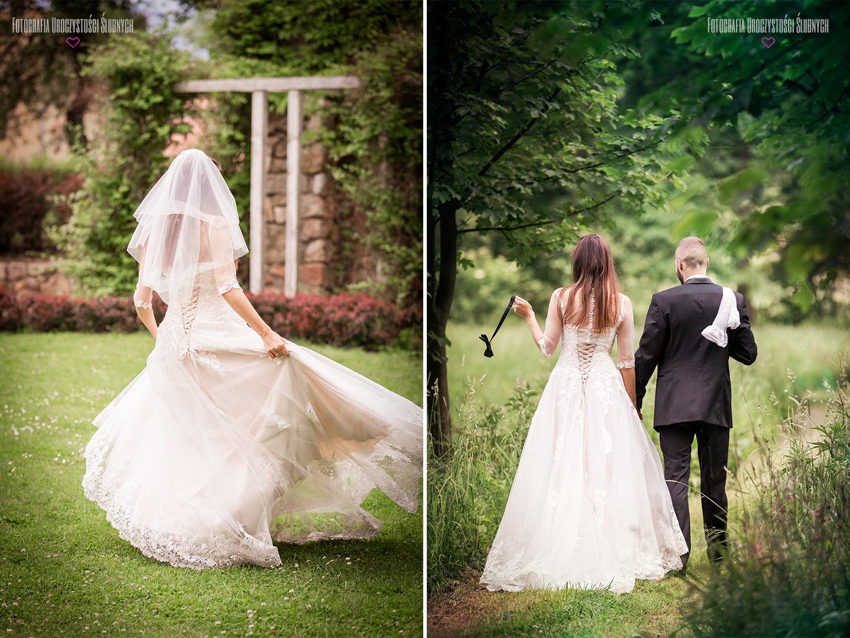 Plener ślubny w Bukowcu - sesja zdjęciowa w Karkonoszach w parku w Bukowcu, na szlaku Pałaców i Ogrodów Kotliny Jeleniogórskiej