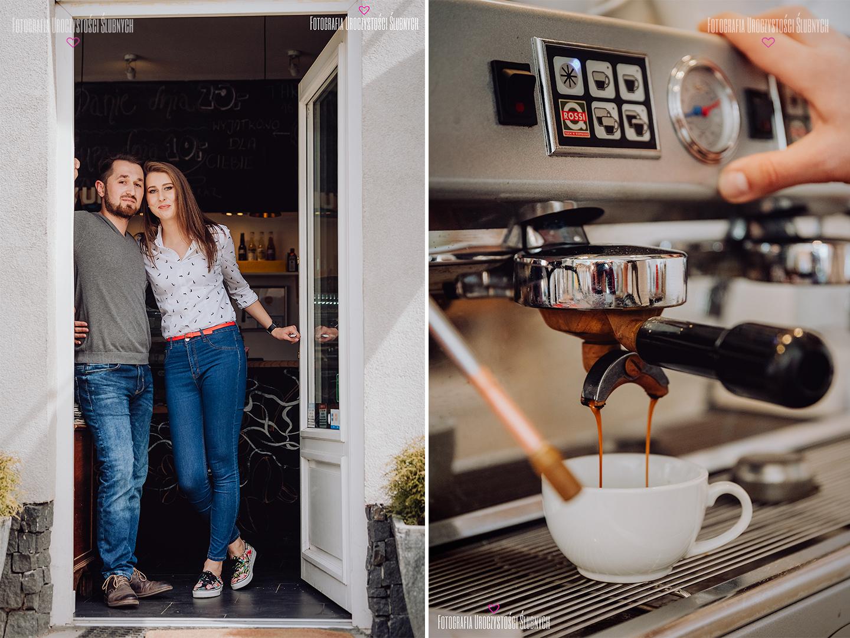 Fotografia ślubna Wrocław - zdjęcia z sesji narzeczeńskiej w Kukutu Cafe w Jeleniej Górze. Reportaże ślubne, nowoczesne zdjęcia ślubne.